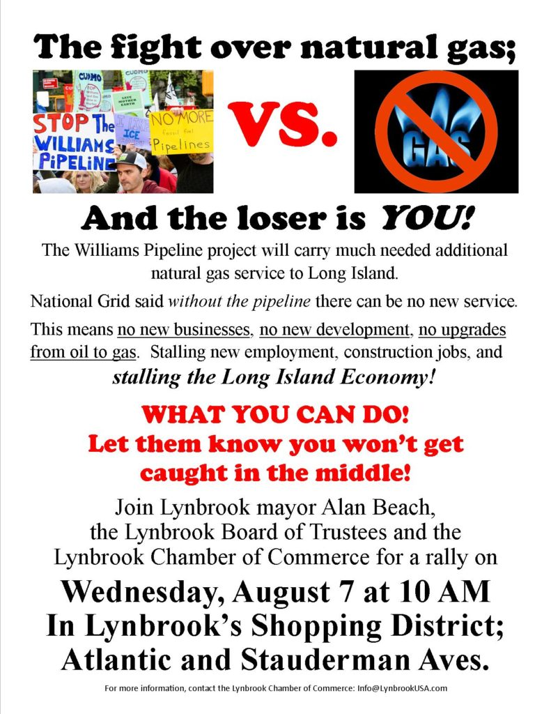Williams Pipeline Project Rally - Weds, Aug. 7, Atlantic Ave.