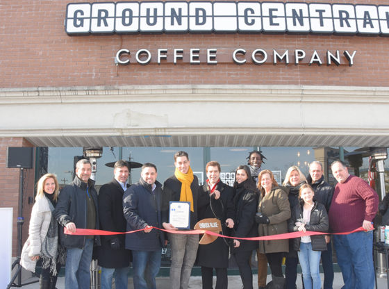 Supervisor Laura Gillen along with Councilman Anthony D'Esposito attends the Grand Opening of Ground Central Coffee Company located in Phillips Plaza on Sunrise Highway in Lynbrook.